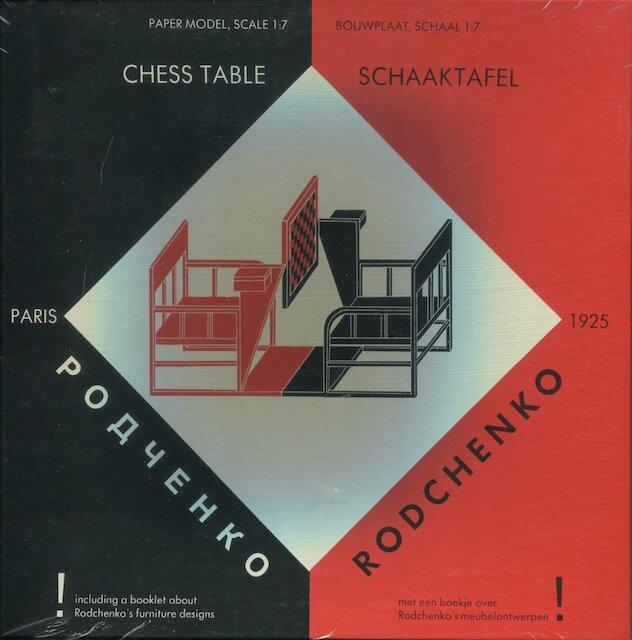 Rodchenko Chess Table / Schaaktafel [bouwplaat] - Rodchenko, Johannes Niemeijer, Chr. Overvoorde