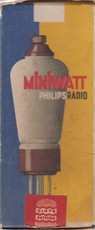 Philips Miniwatt (packing box for radio tubes)
